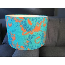 Light gree and orange floral lampshades